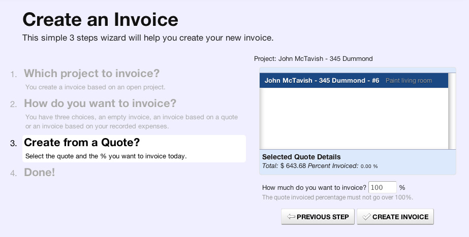 Create An Invoice From Your Existing Quotes